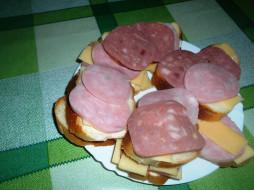 хлеб, колбаса, сыр, бутерброды, еда