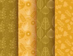 фон, листочки, patterns, осень, текстура