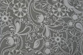 цветы, пейсли, узор, фон, серый
