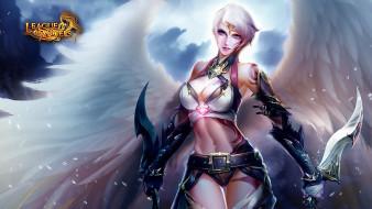 крылья, Monica, ангел, оружие, девушка