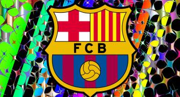 FC, Barcelona, фон, логотип