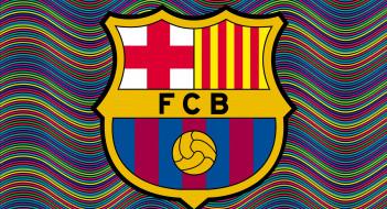 FC, Barcelona, логотип, фон
