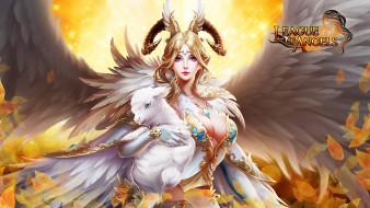 рога, ягненок, ангел, крылья, девушка, Alice