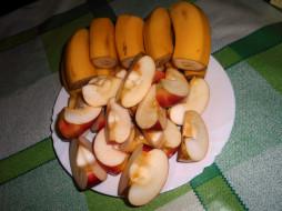 еда, бананы, яблоки