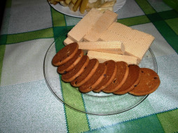 еда, вафли, печенье