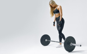 fitness, workout, pose, blonde