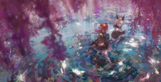 аниме, pixiv fantasia, девочки