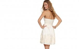 девушки, nina agdal, платье, украшения, улыбка, модель