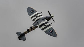 войны, британский, Spitfire, истребитель