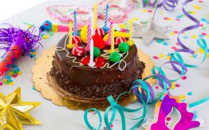 свечи, торт