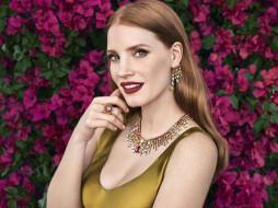 цветы, улыбка, рыжая, актриса, украшения