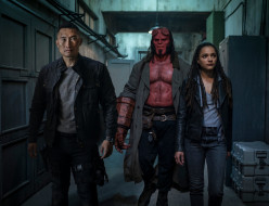 фантастика, ужасы, кадры из фильма, фильмы 2019 года, hellboy, daniel dae kim, фэнтези, david harbour, sasha lane