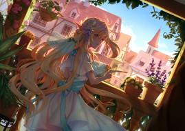аниме, pixiv fantasia, девушка