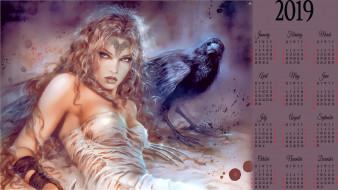 птица, девушка, узор, рисунок
