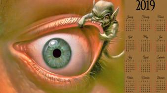 существо, глаз, монстр