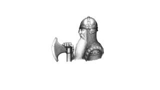 борода, лицо, доспехи, воин, шлем, профиль, топор, кольчуга