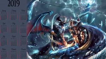 рога, крылья, демон, оружие