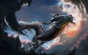 фэнтези, драконы, дракон, девушка