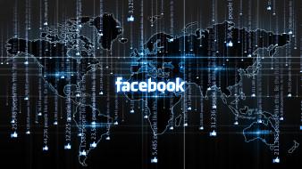компьютеры, facebook, фон, логотип