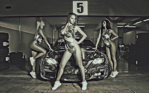 машина, девушка, модель