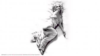 отдых, женщина, сон, постель