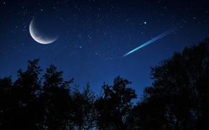 космос, луна, ночь
