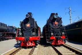 паровозы, техника, локомотивы, рельсы, шпалы, перрон