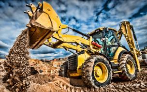 спецтехника, экскаваторы, caterpillar, сat 434f, строительная техника, экскаватор погрузчик, hdr