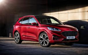 американские автомобили, версия ec, красный, новый, внешность, вид спереди, 2020 ford kuga, форд