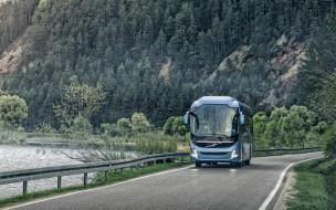 автобусы, 2019, пассажирский автобус, вольво, транспортное средство
