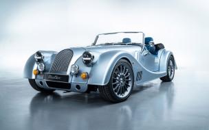 2020, morgan plus six, 110th anniversary, новый, серебристый, купе, экстерьер, вид спереди, морган