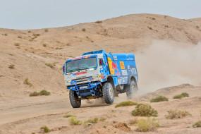 грузовик, ралли, пустыня