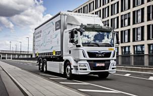 электрический грузовик, новый, белый, фура, man tg