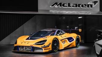 2019, mclaren, 720s, gt3, желтый, макларен, спорткар