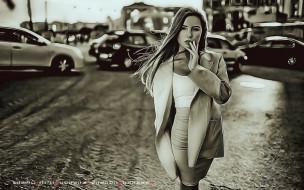 улица, машина, девушка, поза