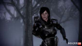 видео игры, mass effect 3, туман, лес, броня, девушка