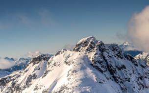 горы, вершины, снег