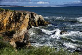 скалы, волны