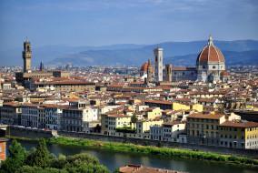 города, флоренция , италия, простор