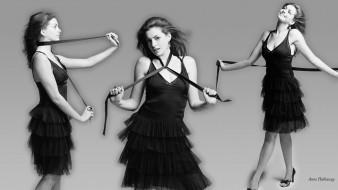 лента, платье, черно-белая, актриса