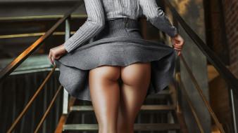ракурс, платье, лестница