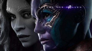 мстители финал, зои салдана, карен гиллан, gamora, постер, фильмы 2019 года, фэнтези, фантастика, nebula