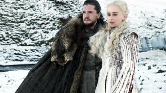 Emilia Clarke, Daenerys Targaryen, Kit Harington, Jon Snow