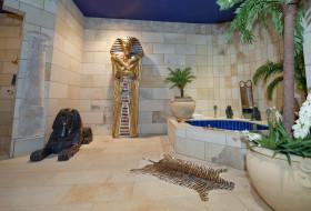 пальмы, статуи, Египет, ванна