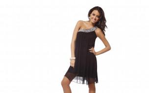 платье, браслет, шатенка, улыбка, модель