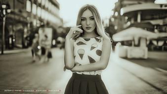 улица, взгляд, девушка