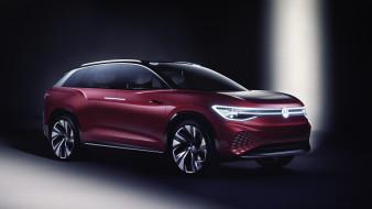 2019 volkswagen id roomzz, красный, фольцваген, concept