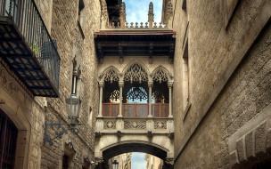 города, барселона , испания, балкон
