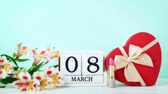 помада, дата, конфеты, альстромерия