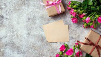 розы, подарки, бутоны